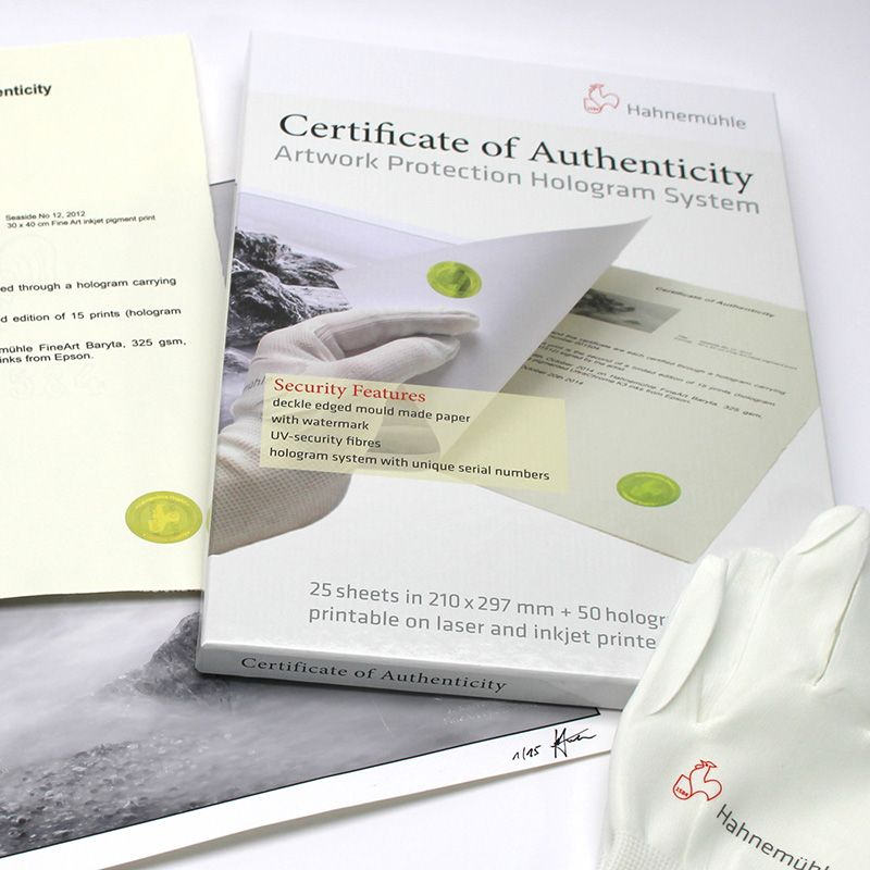 Certificats d'authenticité + 50 hologrammes