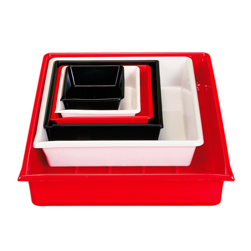 Cuvette de laboratoire 20 x 25 cm, rouge