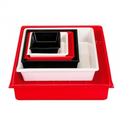 Cuvette de laboratoire 24 x 30 cm, rouge
