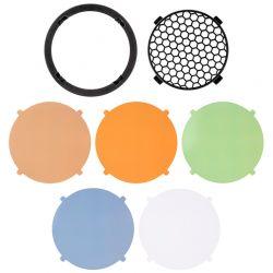 Grille magnétique + filtres colorés FJ80