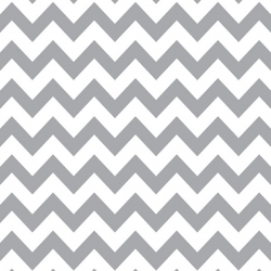 GRAY & WHITE CHEVRON